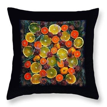 Citrus Time Throw Pillow