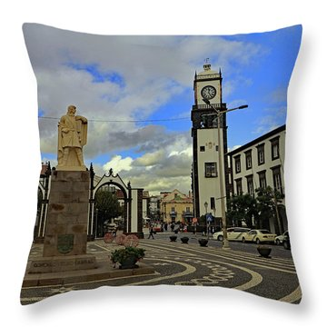 Throw Pillow featuring the photograph City Gate  by Tony Murtagh