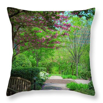 City Oasis Throw Pillow