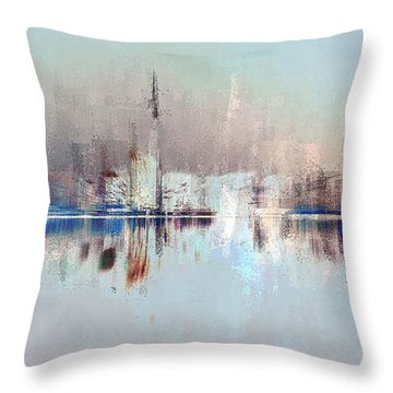City Of Pastels Throw Pillow