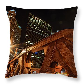 City Of The Big Shoulders Throw Pillow