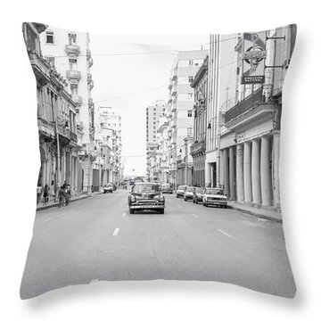City Street, Havana Throw Pillow