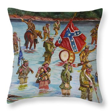 Civil War Battle, Spanish Fort, Mobile Bay, Mobile, Alabama Throw Pillow