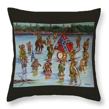 Civil War Battle, Spanish Fort, Spanish Fort,mobile Bay, Alabama Throw Pillow