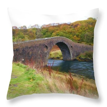 Clach Na Sula Throw Pillow