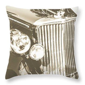 Classic Car Chrome Throw Pillow