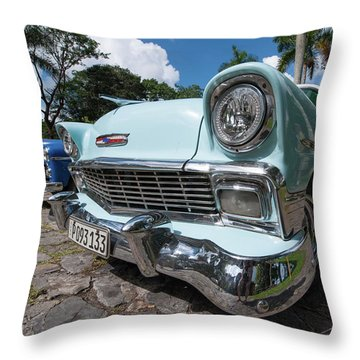 Classic Cuban Chevy Throw Pillow