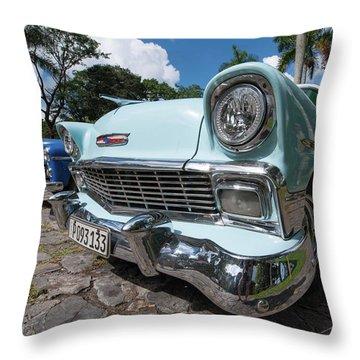 Classic Cuban Chevy Throw Pillow