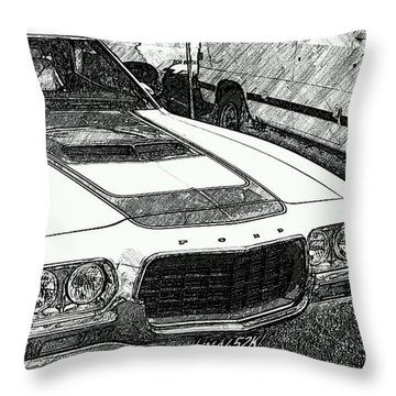Classic Ford Sketch Throw Pillow