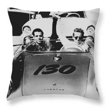 Classic James Dean Porsche Photo Throw Pillow