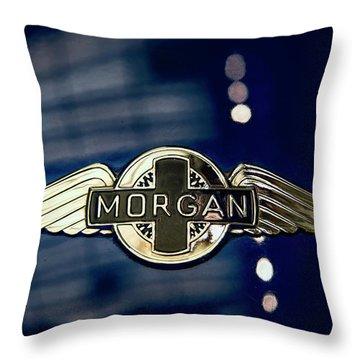 Classic Morgan Name Plate Throw Pillow