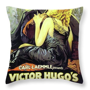 Classic Movie Poster - The Man Who Laughs Throw Pillow