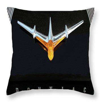 Classic Pontiac Hood Ornament Throw Pillow
