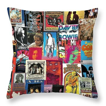 Classic Rock Collage 6 Throw Pillow