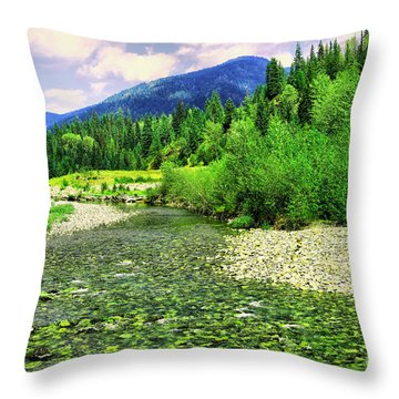 Clear Colorado Water Throw Pillow