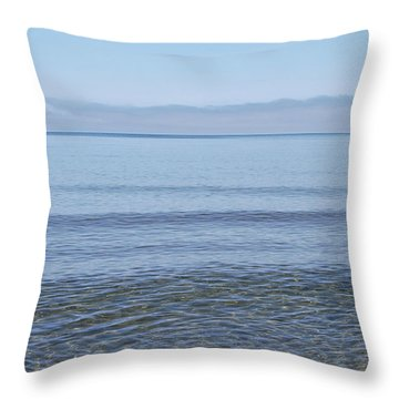 Clear Lake Superior Throw Pillow