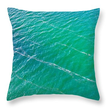Clear Water Imagery  Throw Pillow