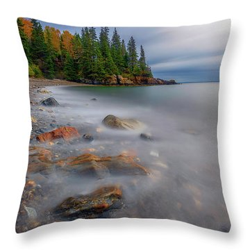 Throw Pillow featuring the photograph Clearing Storm At Owl's Head by Rick Berk