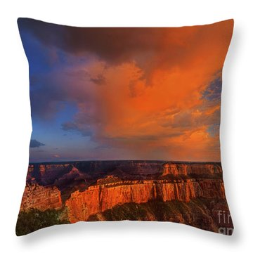 Clearing Storm Cape Royal North Rim Grand Canyon Np Arizona Throw Pillow