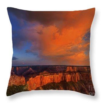 Clearing Storm Cape Royal North Rim Grand Canyon Np Arizona Throw Pillow