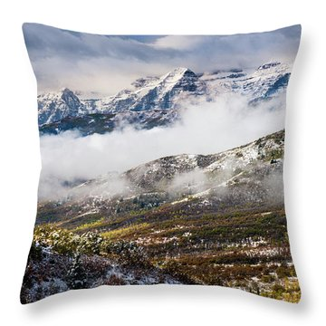 Throw Pillow featuring the photograph Clearing Storm by TL Mair