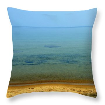 Clearness Of Lake Superior Throw Pillow