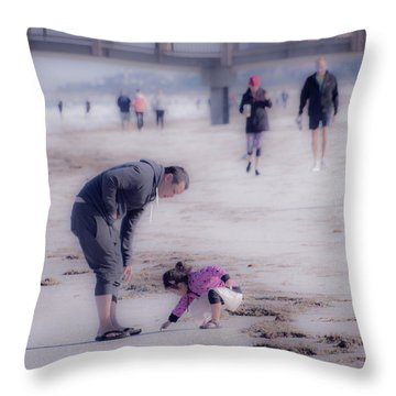 Clearwater Beachcombing Throw Pillow