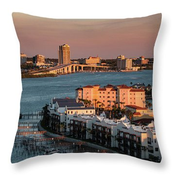 Throw Pillow featuring the photograph Clearwater Evening by Jeff Phillippi