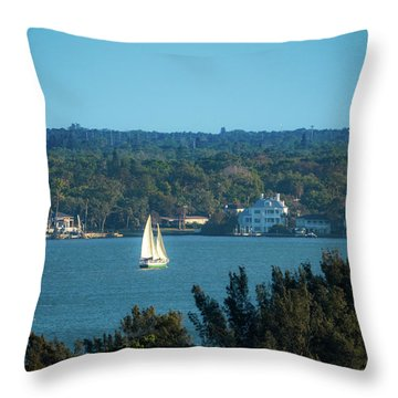 Throw Pillow featuring the photograph Clearwater Sails by Jeff Phillippi