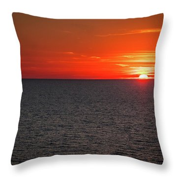 Clearwater Sunset Throw Pillow