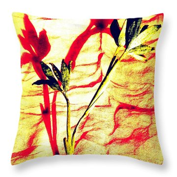 Clementine Sprig Contemporary Throw Pillow
