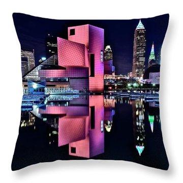 Cleveland Rocks Cleveland Rocks Cleveland Rocks Throw Pillow