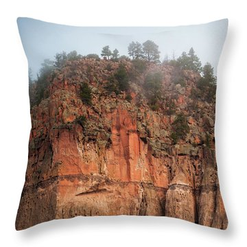 Throw Pillow featuring the photograph Cliff Face Hz by Jeff Phillippi