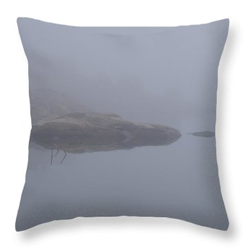 Cliffs In Fog Throw Pillow