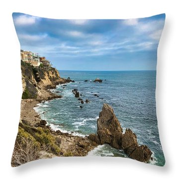 Cliffs Of Corona Del  Mar Throw Pillow