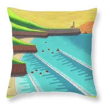 Cliffside Sunset  Throw Pillow
