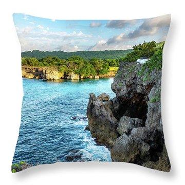 Cliffside Views Portland Jamaica Throw Pillow