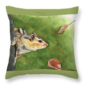 Clinging On To Fall Throw Pillow