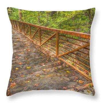Close Up Of Bridge At Pine Quarry Park Throw Pillow