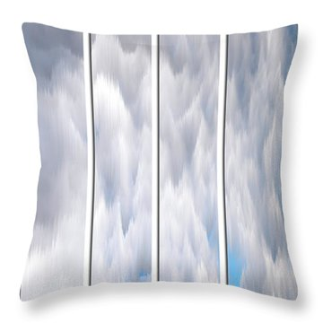 Throw Pillow featuring the photograph Cloud Abstract by Angie Tirado