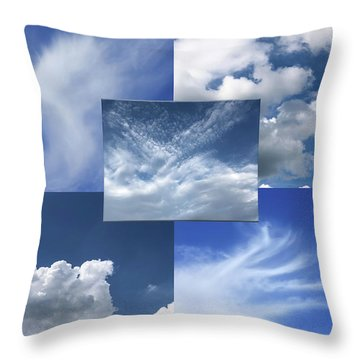 Cloud Collage Two Throw Pillow