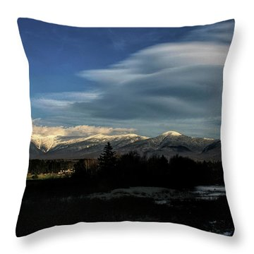 Throw Pillow featuring the photograph Cloud Lens Over The Presidential Range by Wayne King