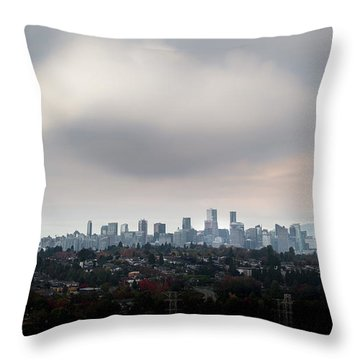 Cloud On Vancouver  Throw Pillow