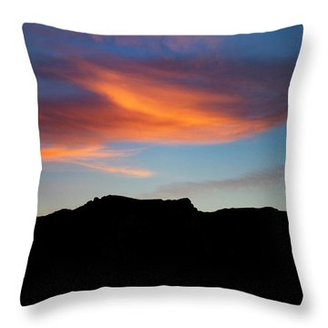 Cloud Over Mt. Boney Throw Pillow