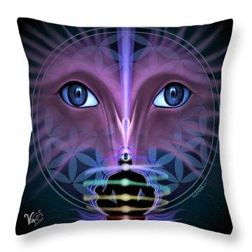 Throw Pillow featuring the digital art Cloud Services by Vincent Autenrieb