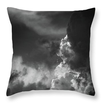 Throw Pillow featuring the photograph Clouds 6 In Black And White by Greg Mimbs