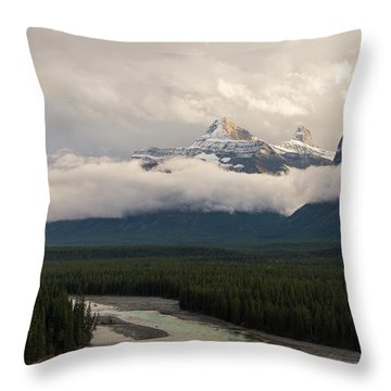 Throw Pillow featuring the photograph Clouds In The Valley by Alex Lapidus