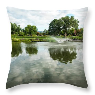 Clouds On Ashley Pond Throw Pillow