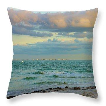 Clouds Over Sanibel Beach Throw Pillow