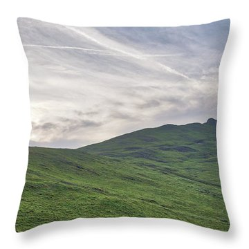 Clouds Over Thorpe Cloud Throw Pillow